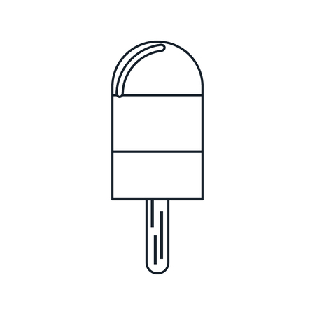 frozen treat: Ice lolly icon. Summer dessert and sweet theme. Isolated design. Vector illustration