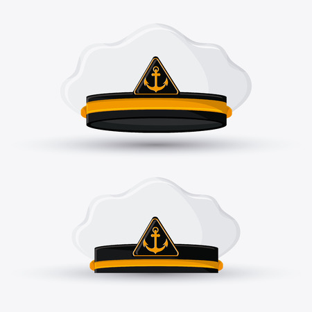 fur cap: marine cap icon. Accessory cloth costume and wear theme. Colorful and isolated design. Vector illustration Illustration