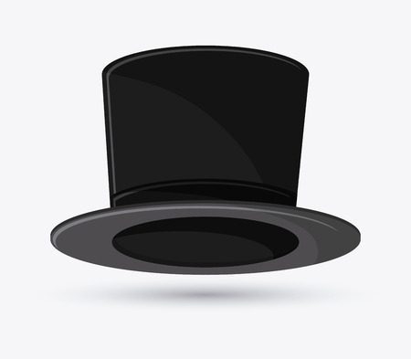 design costume: top hat icon. Accessory cloth costume and wear theme. Colorful and isolated design. Vector illustration