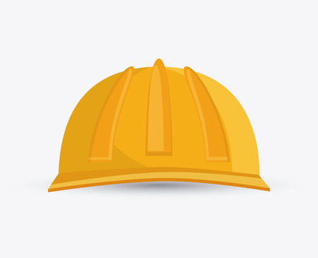 hard hat icon: hard hat icon. Accessory cloth costume and wear theme. Colorful and isolated design. Vector illustration