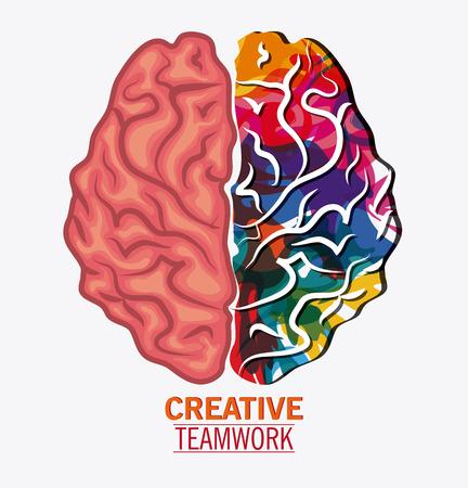 Brain icon. Creative teamwork and big idea theme. Isolated design. Vector illustration