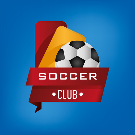 soccer club emblem football related icons image vector illustration design