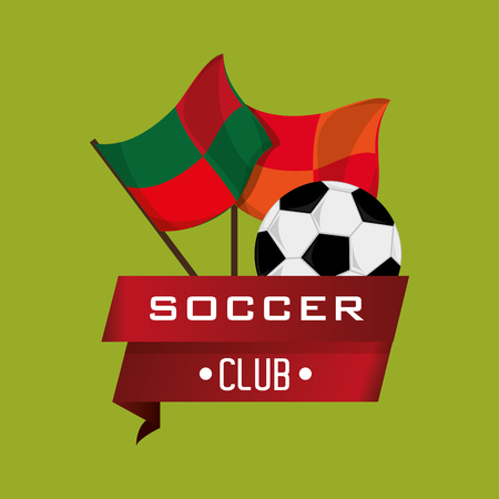 soccer club: soccer club emblem football related icons image vector illustration design