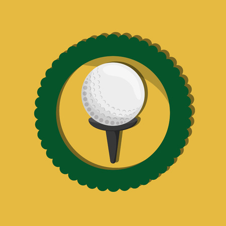 golfing: golf ball with golfing related icons emblem vector illustration design Illustration