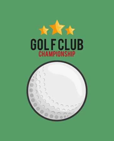 golfing: golf club with golfing related icons image vector illustration design