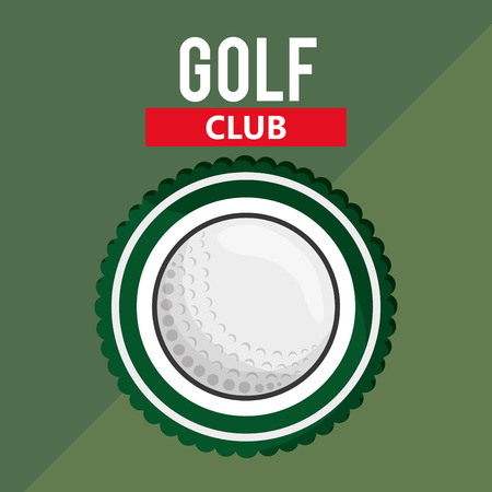 dimple: golf club with golfing related icons image vector illustration design