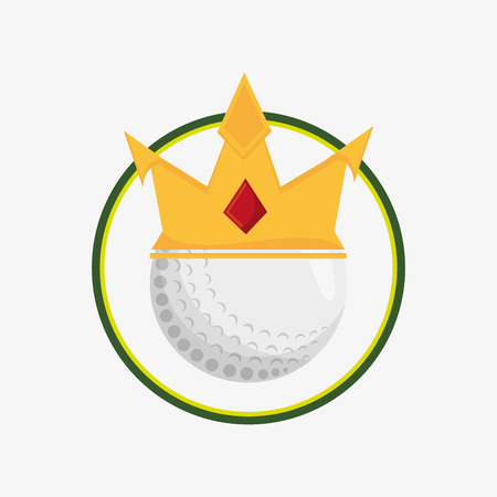 golf ball with golfing related icons emblem vector illustration design Illustration