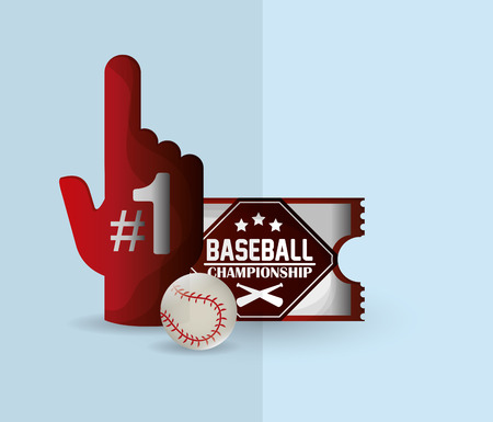 fast pitch: championship emblem baseball related icons image vector illustration design
