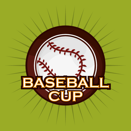ball with baseball related icons image vector illustration design Illustration