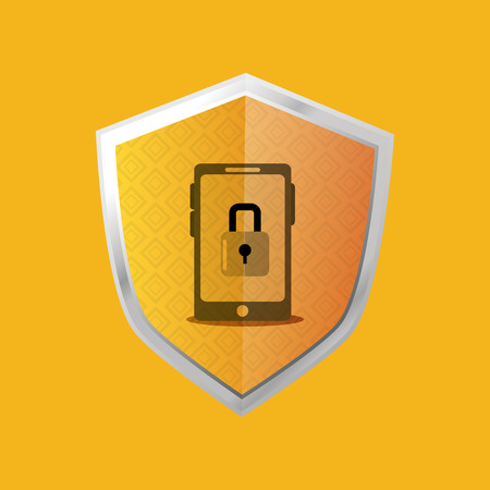 crime prevention: shield virtual security system icons image vector illustration design