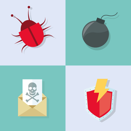 crime prevention: virtual security system icons image vector illustration design