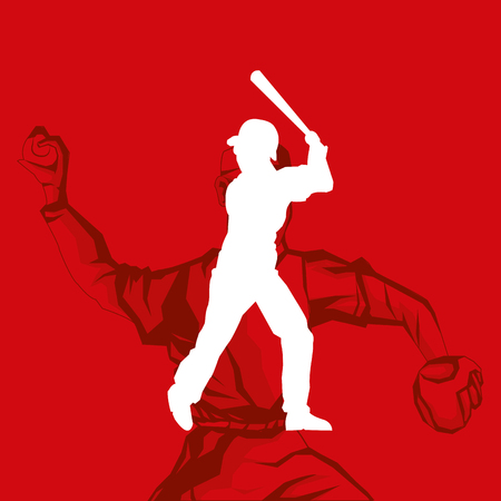 fast pitch: player with baseball related icons image vector illustration design Illustration