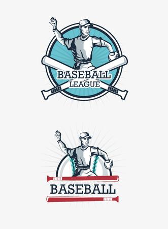 baseball related icons emblem vector illustration design
