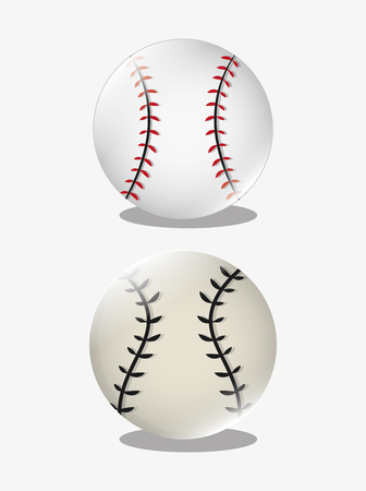fast pitch: ball with baseball related icons image vector illustration design Illustration