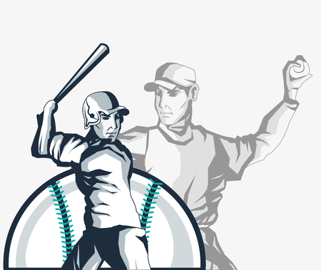 ball and player baseball related icons image vector illustration design Illustration
