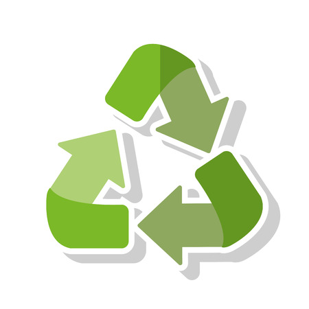 Recycle icon. Ecology renewable and conservation theme. Isolated design. Vector illustration Illustration
