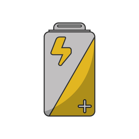 Battery icon. Energy power and technology theme. Isolated design. Vector illustration