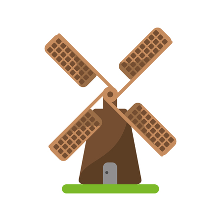 wind mill: Wind mill icon. Ecology renewable and conservation theme. Isolated design. Vector illustration Illustration