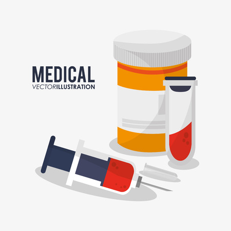 Jar of medicine icon. Medical and health care theme. Colorful design. Vector illustration