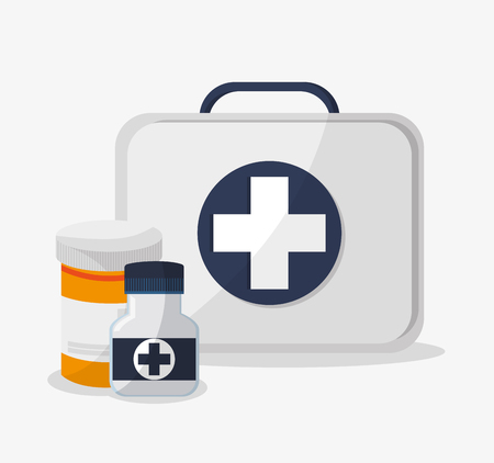 Medical kit icon. Medical and health care theme. Colorful design. Vector illustration