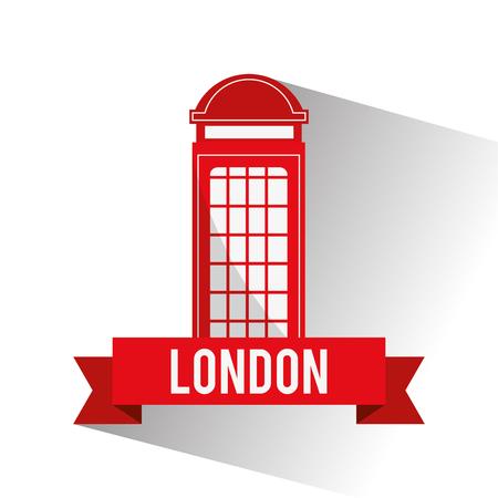 london   england: Telephone icon. London england landmark and tourism theme. Colorful design. Vector illustration Illustration