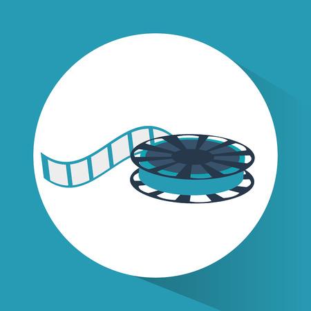 cinema viewing: Film reel icon. Cinema movie video and film theme. Colorful design. Vector illustration