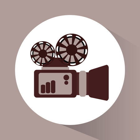 videocamera: Videocamera icon. Cinema movie video and film theme. Vector illustration