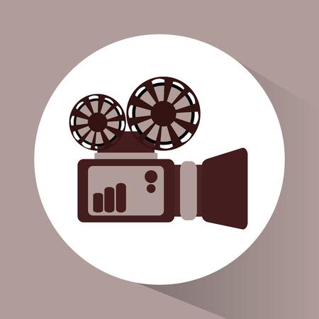 cinema viewing: Videocamera icon. Cinema movie video and film theme. Vector illustration