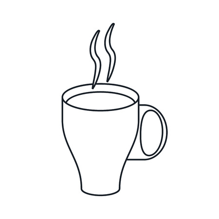 coffee mug icon. Coffe time drink breakfast and beverage theme. Isolated design. Vector illustration Illustration