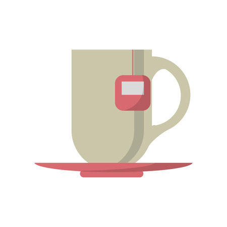 Tea cup icon. Tea time drink breakfast and beverage theme. Isolated design. Vector illustration Illustration