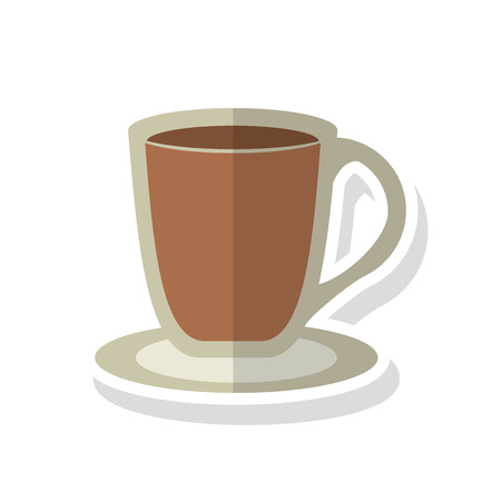 coffee time: coffee mug icon. Coffee time drink breakfast and beverage theme. Isolated design. Vector illustration