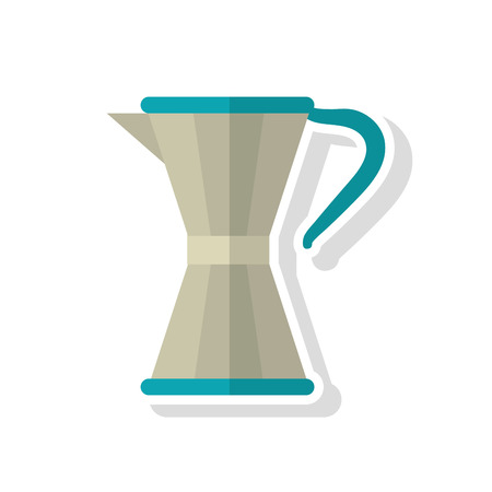 coffee pot: coffee pot icon. Coffee time drink breakfast and beverage theme. Isolated design. Vector illustration