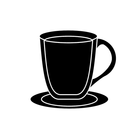 break time: coffee mug icon. Coffe time drink breakfast and beverage theme. Isolated design. Vector illustration Illustration