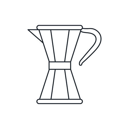 coffee pot: coffee pot icon. Coffe time drink breakfast and beverage theme. Isolated design. Vector illustration