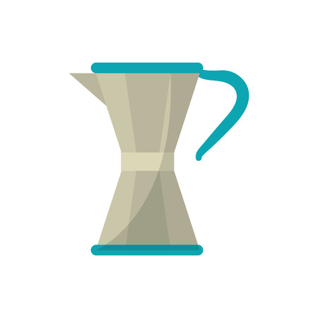 coffee pot icon. Coffe time drink breakfast and beverage theme. Isolated design. Vector illustration