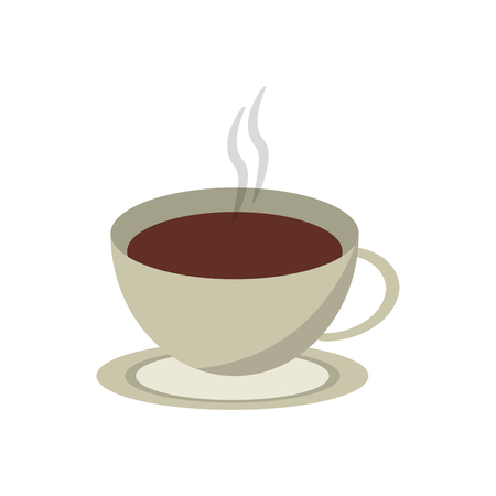 coffee cup icon. Coffe time drink breakfast and beverage theme. Isolated design. Vector illustration