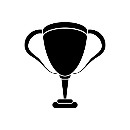 competitors: Trophy cup icon. Winner competition and success theme. Isolated design. Vector illustration