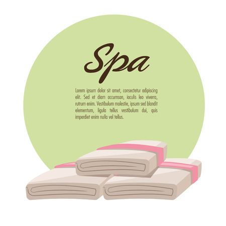 towels: Towels icon. Spa center and healthy lifestyle theme. Colorful design. Vector illustration Illustration