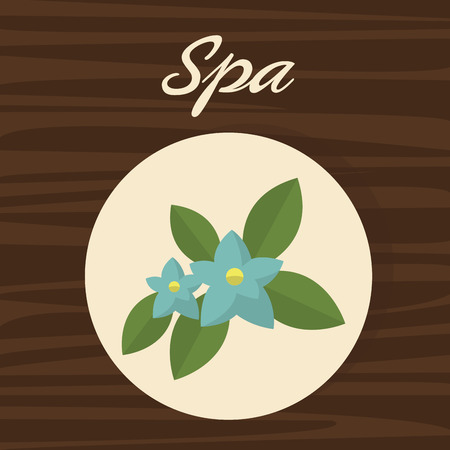 Flower icon. Spa center and healthy lifestyle theme. Colorful design. Vector illustration Illustration