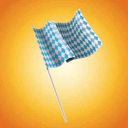 Flag icon. Oktoberfest germany festival and celebration theme. Colorful design. Vector illustration