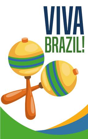 maraca: Maraca instrument icon. Brazil culture america and tourism theme. Colorful design. Vector illustration