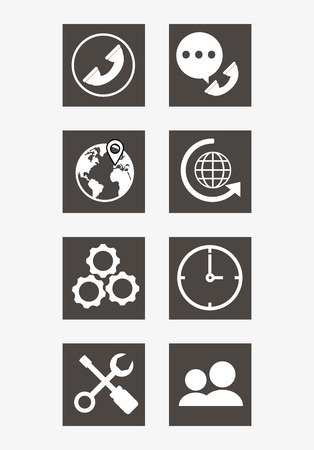 executive assistants: online support or call center related icons image vector illustration design
