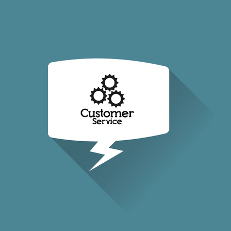 executive assistants: customer service related icons image vector illustration