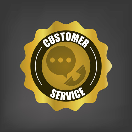 communicator: customer service related icons emblem vector illustration