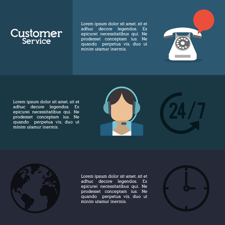 executive assistants: customer service worker related icons image vector illustration Illustration