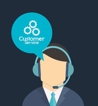 顧客サービスのワーカー関連のアイコン画像のベクトル図