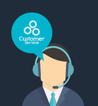 customer service worker related icons image vector illustration Ilustração