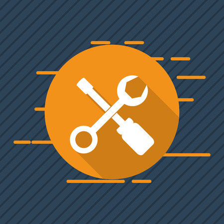 tooling: wrench and screwdriver icons image vector illustration design