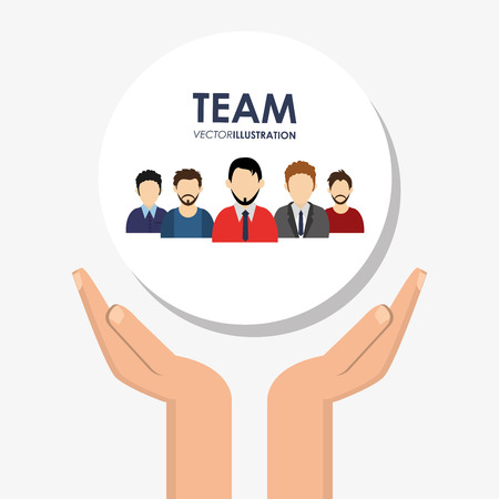 teamwork and business related icons image vector illustration design Illustration