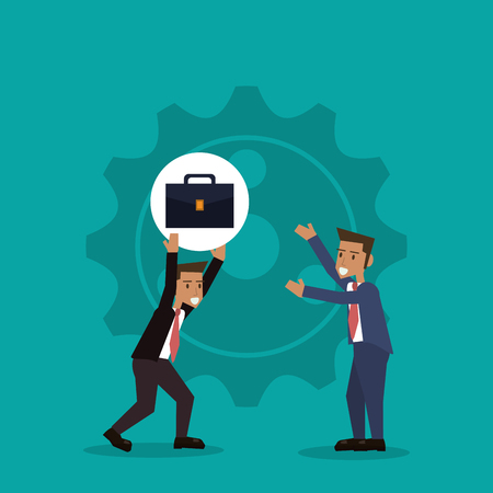 teamwork and business with gears related icons image vector illustration design